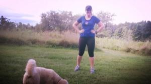 getting ready to start my run!