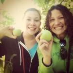 full body workout: apple picking