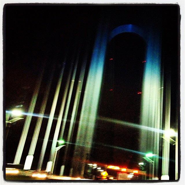 pre-dawn Verrazano Bridge