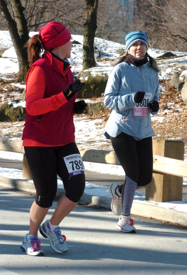 Lisa and Sally running in January of this year.