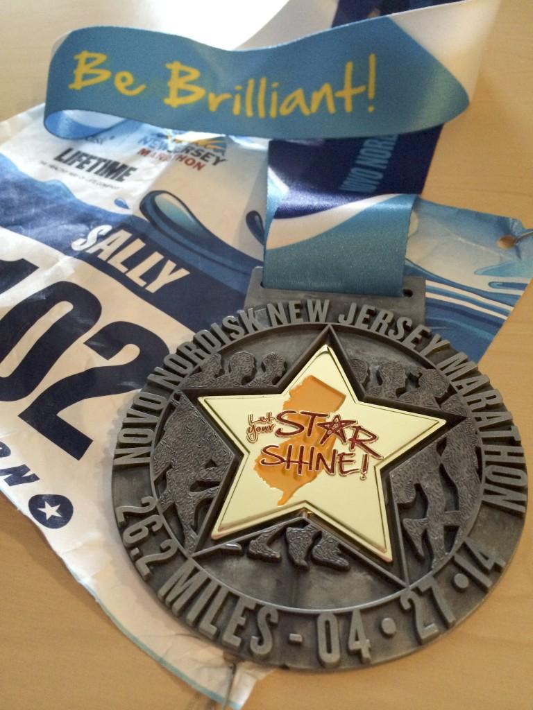 NJ Marathon medal