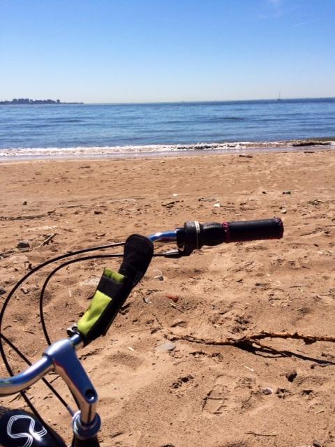 becoming quite the biker beach bum