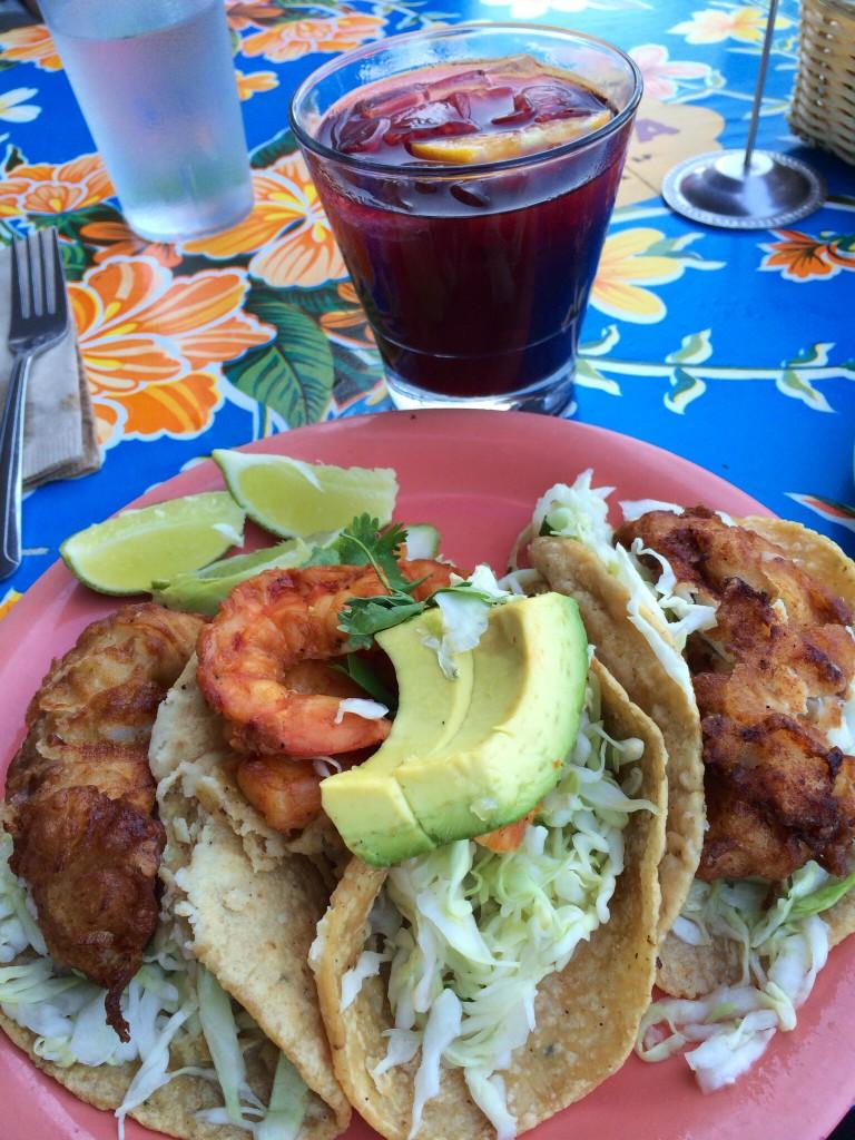 Fish tacos! Sangria!