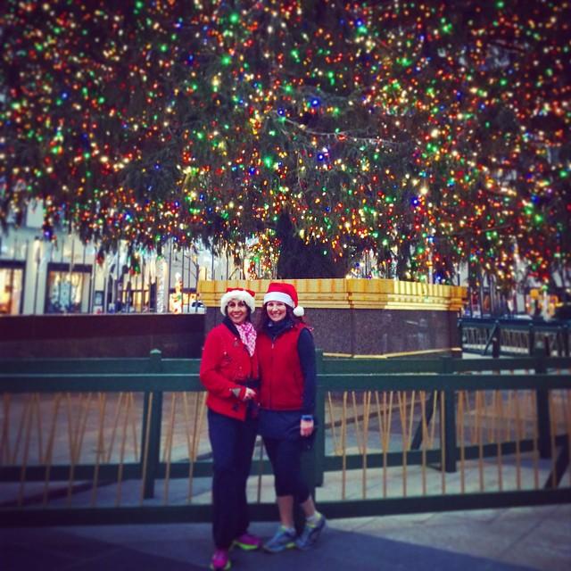 Me and Elvia and a big tree