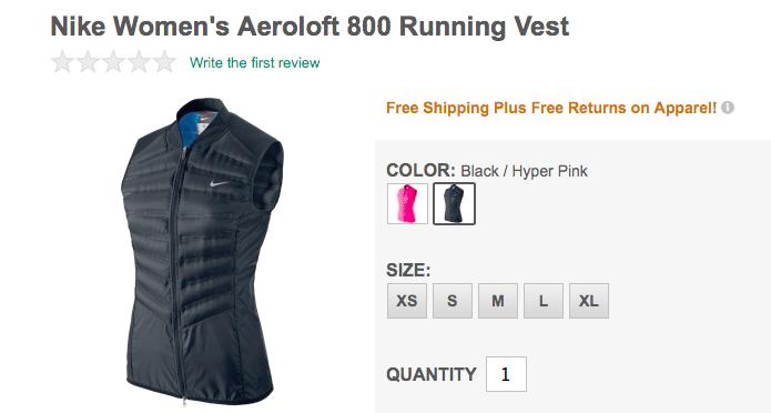 Nike Aeroloft 800 Running Vest