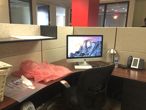 bye bye cubicle....