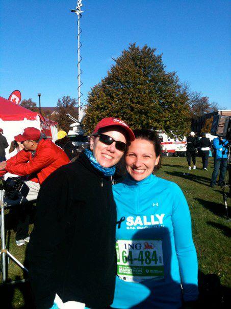 Me and Lisa at my first marathon—the 2011 NYC Marathon