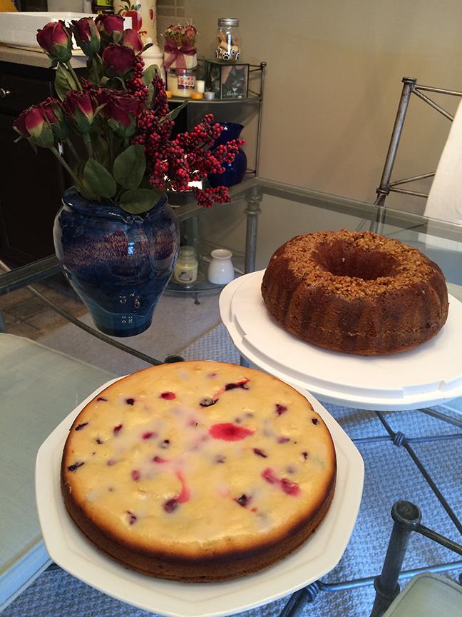Lemon Blueberry Yogurt cake and rum cake