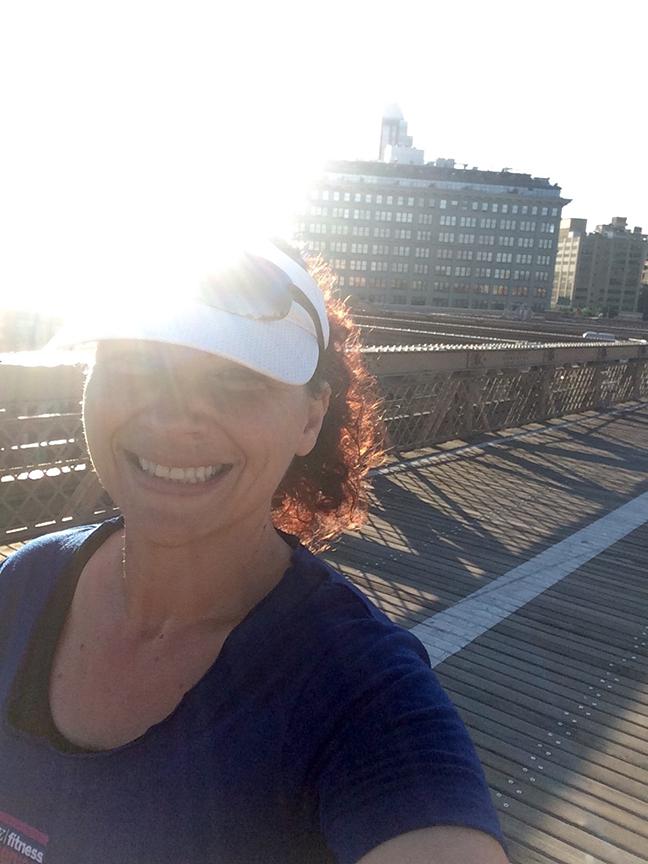 Headed over the Brooklyn Bridge
