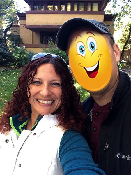 Frank lloyd wright house selfie