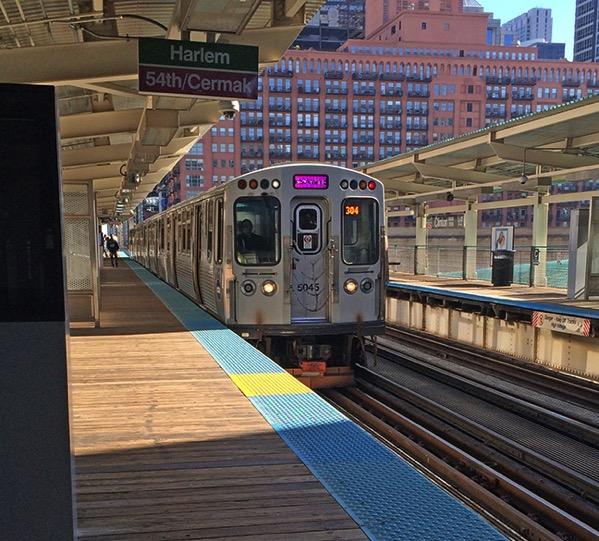 Pink line train