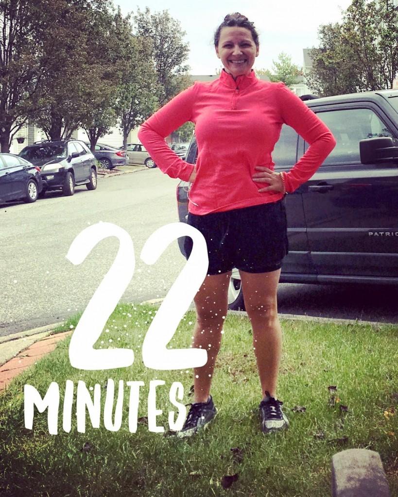 ran 22 minutes last week in the Escalante
